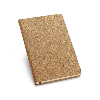 Caderno capa dura. Cortiça.  Com porta esferográfica Cód SPCG93720