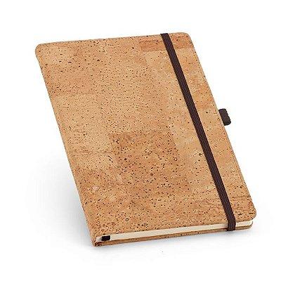 Caderno. Cortiça.  Com porta esferográfica e 80 folhas não pautadas Cód.SPCG93731