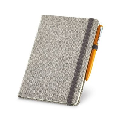 Caderno capa dura.  Algodão canvas sintético. Cód.SPCG93725
