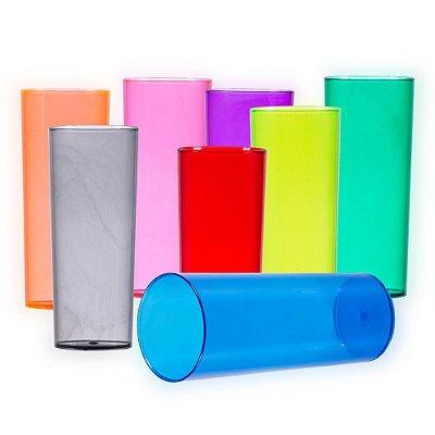 Copo long drink 330ml acrílico translúcido em varias cores. SK13699T