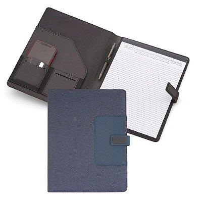 Pasta Executiva Almofadada com caderno de 20 folhas, código: SKPC900-AZ