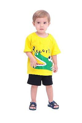 Conjunto Jacaré Dentuço - camiseta e shorts