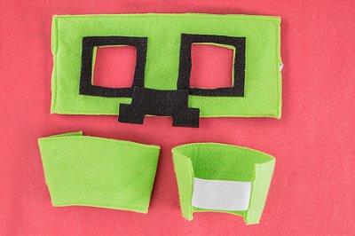 Kit inspirado no Creeper Minecraft -Acessórios- QUIMERA KIDS
