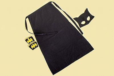 Kit inspirado na Batgirl com capa - Acessórios -QUIMERA KIDS