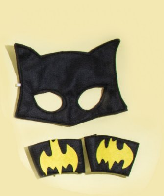 Kit inspirado na Batgirl sem capa - Acessórios -QUIMERA KIDS