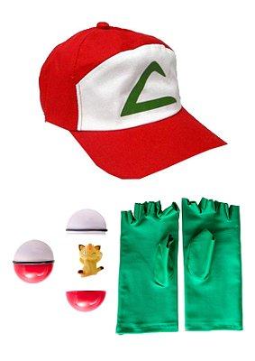 Kit do Ash, treinador de Pokemon - Acessórios - QUIMERA KIDS