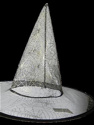 Chapéu de Bruxa com estampa de aranha - Acessórios