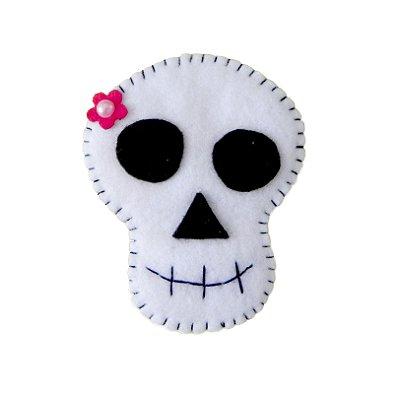 Aplique de Caveira p/ customização - Halloween -QUIMERA KIDS