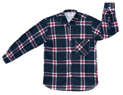 Camisa xadrez preta e vermelha - Festa Junina