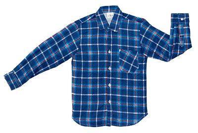Camisa xadrez azul e vermelha - Festa Junina