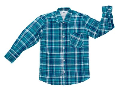 Camisa xadrez verde e azul  -  Festa Junina