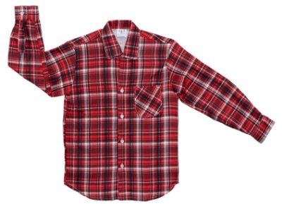 Camisa xadrez vermelha e branca - Festa Junina