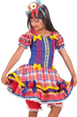 Vestido Caipira Xadrez