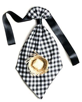 Gravata caipira XADREZ PRETA E BRANCA - Festa Junina - QUIMERA KIDS