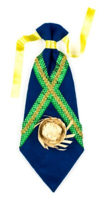 Gravata caipira azul - Festa Junina - QUIMERA KIDS
