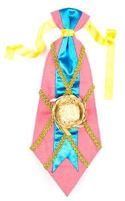 Gravata caipira ROSA - Festa Junina - QUIMERA KIDS