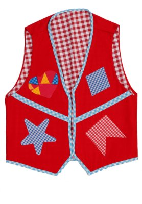 Colete vermelho com estampa diversa - Festa Junina - QUIMERA KIDS