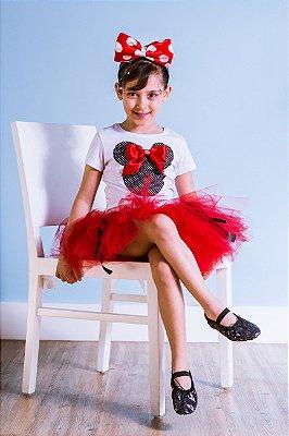Minnie tutu vermelha