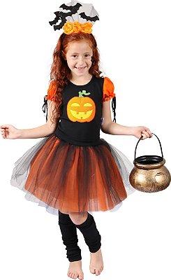 Look de Abóbora - Halloween - Quimera Kids