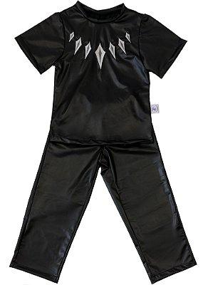 Look completo inspirado no Pantera Negra - Fantasia - QUIMERA KIDS