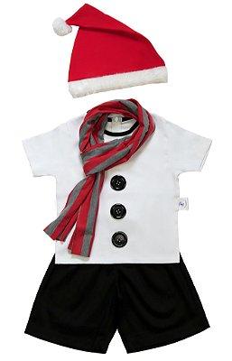 Look de Boneco de Neve Preto - Natal - Quimera Kids