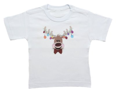 Camiseta de Alce - Natal - Quimera Kids