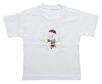 Camiseta de Boneco de Neve - Natal - Quimera Kids