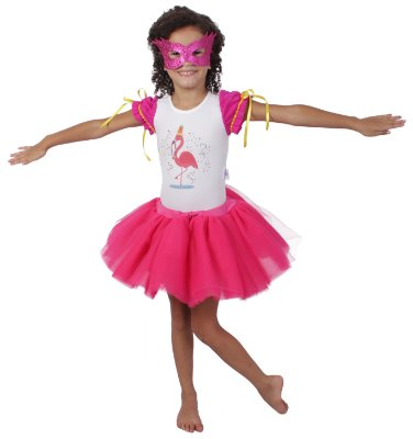 Look de Flamingo - Carnaval - Quimera Kids