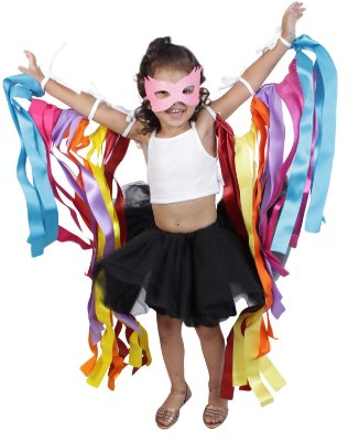 Look de fitas com saia de tutu preta - Carnaval - Quimera Kids