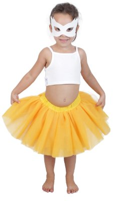 Saia de tutu curta amarelo gema - Quimera Kids