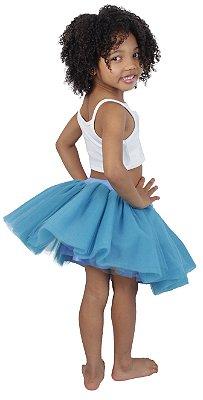 Saia de tutu curta azul celeste - Quimera Kids