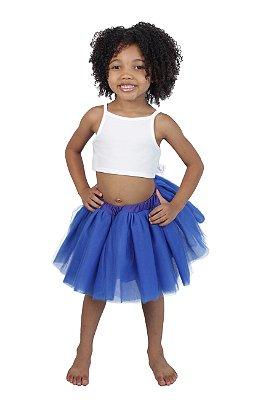 Saia de tutu curta azul royal - Quimera Kids