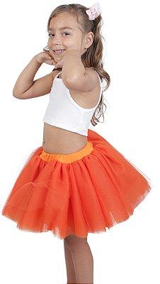 Saia de tutu curta laranja - Quimera Kids