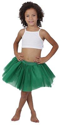 Saia de tutu curta verde bandeira - Quimera Kids