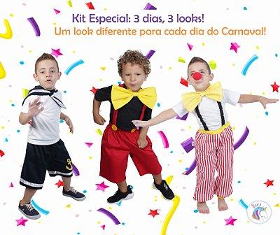 Kit 3 dias = 3 looks diferentes: Palhaço Lelé, Marinheiro e Mickey - Quimera Kids