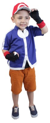 Look completo do Ash XYZ, treinador de Pokemon - QUIMERA KIDS