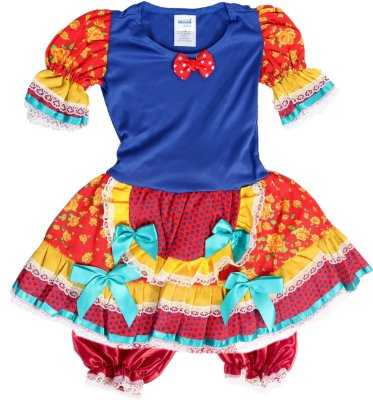 Vestido Caipira Popcake - Festa Junina