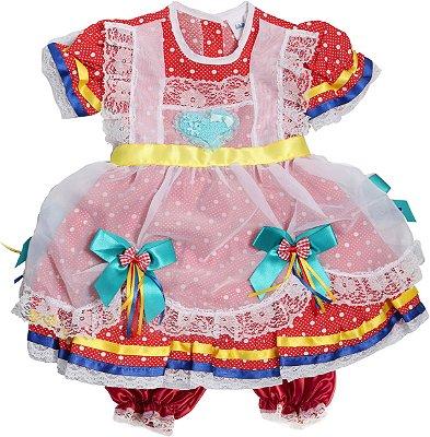 Vestido Caipira Algodão Doce - Festa Junina