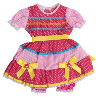 Vestido Caipira Tutti Fruitti - Festa Junina