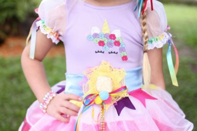 Vestido UNICÓRNIO CAIPIRA 2 em 1 - Festa Junina - Quimera Kids