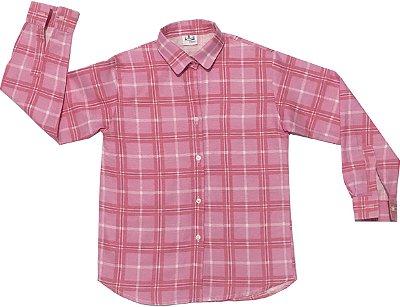 Camisa xadrez rosa e branca - Festa Junina
