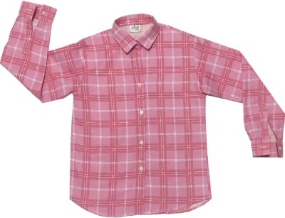 Camisa Xadrez Rosa e Branca