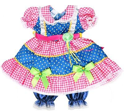 Vestido Caipira Bala de Goma - Festa Junina