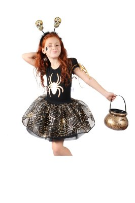 Look de Aranha Dourado - Halloween - QUIMERA KIDS
