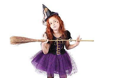 Vestido de Bruxa - Halloween - QUIMERA KIDS