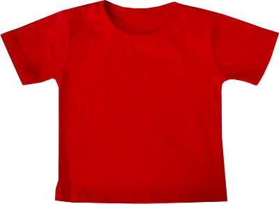 Camiseta 100% algodão - VERMELHA - QUIMERA KIDS