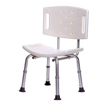 Banco ou cadeira de banho para idosos COM encosto - Supermedy - BBCE