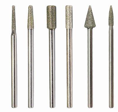 Kit 6 Brocas Diamantadas para Podologia