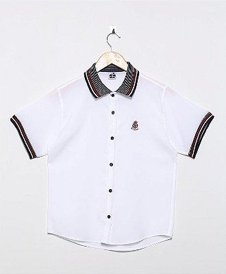 Camisa Golo Polo Lisa Oxford Branca