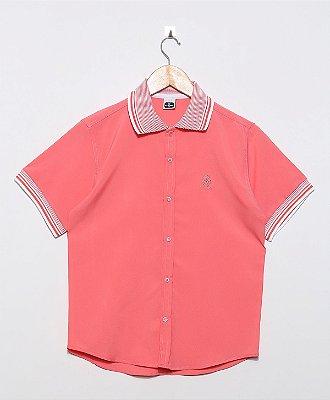 Camisa Golo Polo Lisa Oxford Salmon